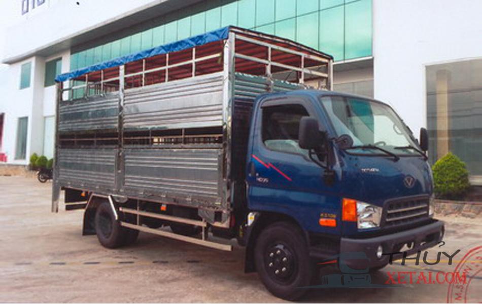 Xe tải Hyundai 8 tấn chở gia súc thùng bửng