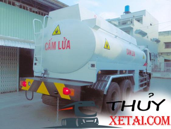 Hino 15 tấn đóng bồn chở Xăng dầu