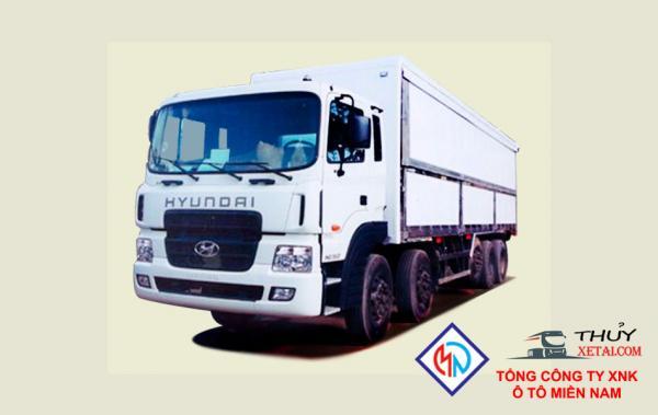 Xe tải Hyundai 5 chân 18T7 thùng kín cánh dơi - HD360