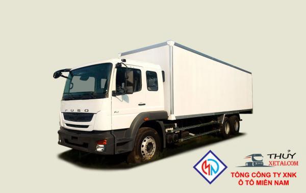Xe tải Fuso Fj 3 chân 14T8 thùng kín