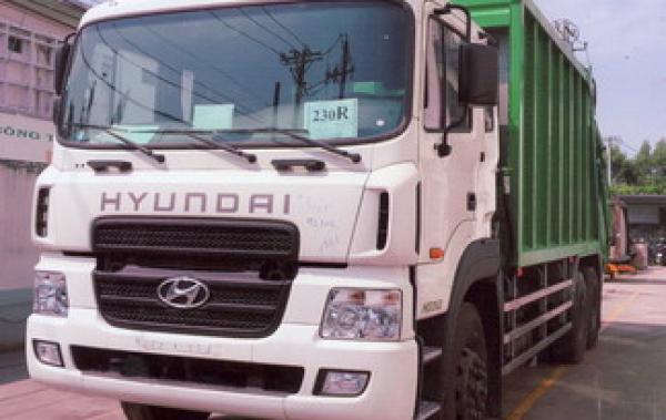 hyundai 15 tấn chở rác nhập khẩu