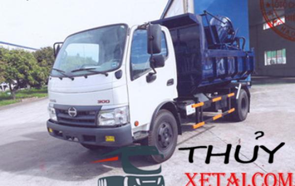 Xe tải Hino 3k3 chở Bùn