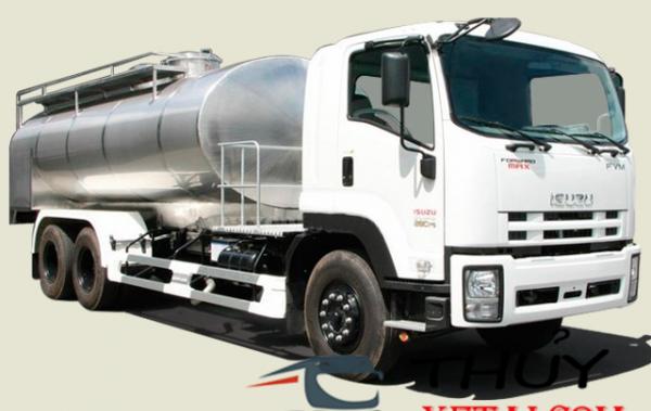 Isuzu 15 tấn bồn chở sữa hợp kim nhôm