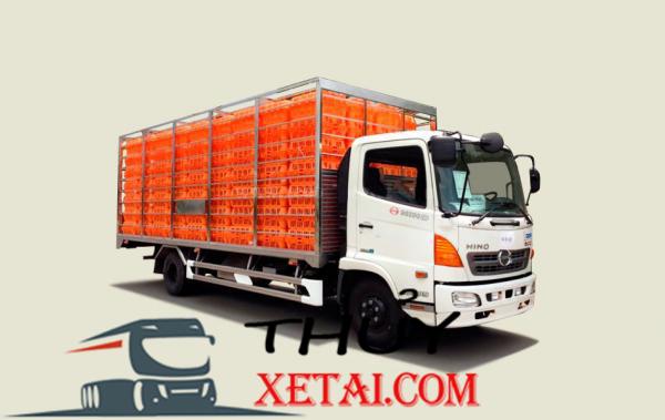 Xe tải Hino 4T9 thùng chở gia cầm - FC9JJTA