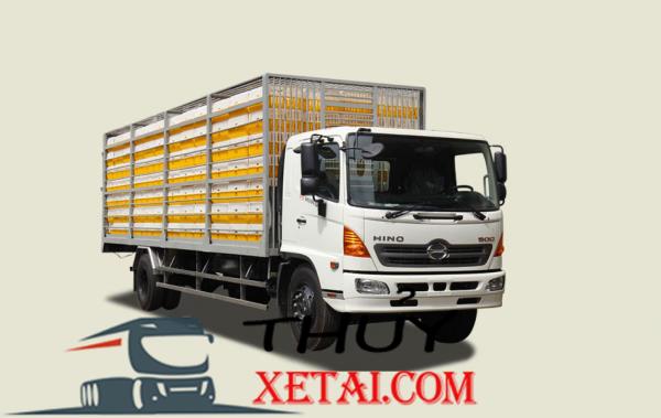 Xe tải Hino 6T7 thùng chở gà vịt - FG8JP7A